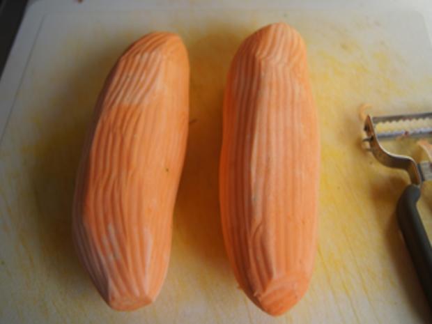 Knusperente auf Gemüsebett mit Erdnusssauce und Süßkartoffelstampf - Rezept - Bild Nr. 11