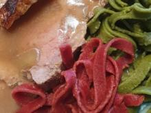 """Krustenbraten """"exquisite"""" mit Tagliatelle (Hausgemacht) und Salat nach Gusto - Rezept - Bild Nr. 2"""
