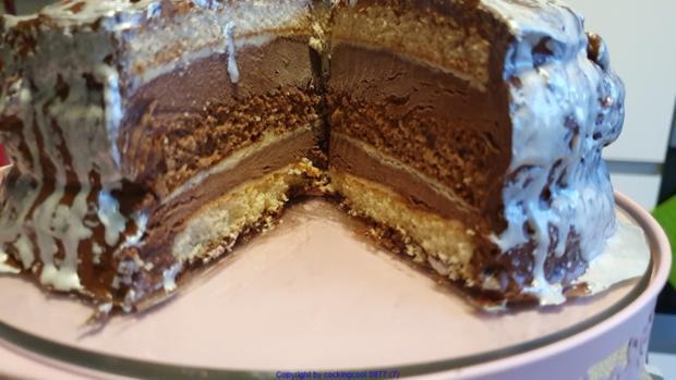 Schokowolken Torte oder Schokoträumchen - Rezept - Bild Nr. 8