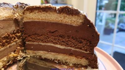 Oma Löffel`s Torten = Schokowolken Torte oder Schokoträumchen - Rezept - Bild Nr. 9
