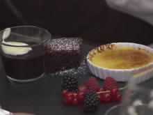 Süßsauerschok (Créme Brûlée, Rote Grütze und Schoko-Brownie) - Rezept - Bild Nr. 2