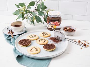 Rezept: Butterplätzchen mit nutella