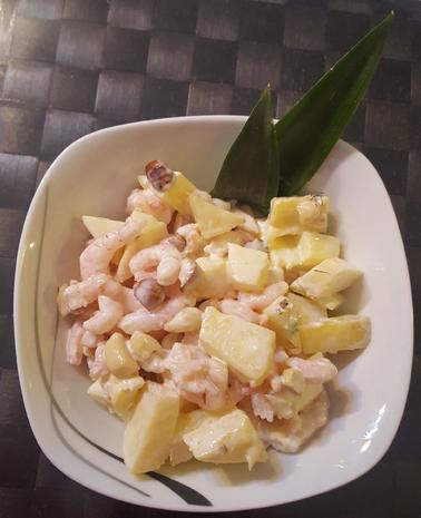Garnelen-Ananas-Nuss Salat - Rezept - Bild Nr. 3
