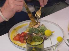Saibling mit Poveraden und Kartoffel-Oliven-Stampf an Sauce Rouille - Rezept - Bild Nr. 2