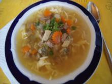Rindfleischsuppe mit Gemüse, Eierstich und Nudeln - Rezept - Bild Nr. 2