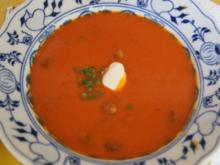 Kürbis-Rote Bete-Suppe mit Einlage - Rezept - Bild Nr. 2