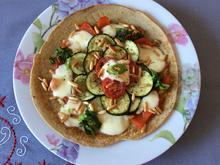 Buchweizen-Pfannkuchen mit Gemüseblume - Rezept - Bild Nr. 2