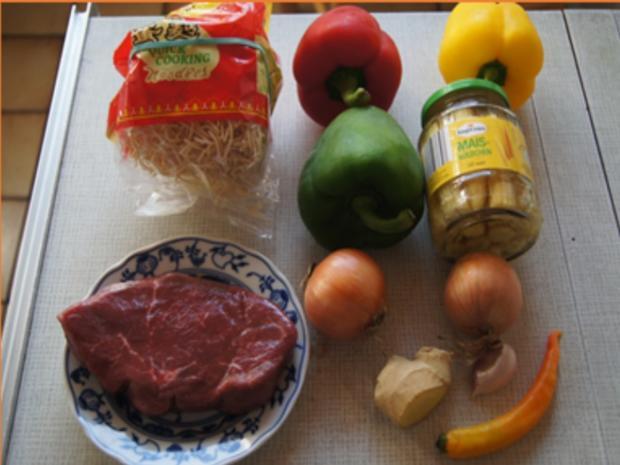 Rindfleisch-Gemüse-Wok mit Mie-Nudeln - Rezept - Bild Nr. 3