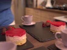 Apfeltarte mit Parfait von der weißen Schokolade - Rezept - Bild Nr. 2