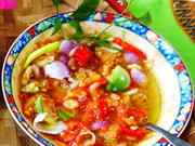 Sambal matah istimewa mit Tomaten und Auberginen - Rezept - Bild Nr. 2