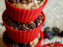 Kürbis-Cranberry-Muffins mit Krokant - Rezept - Bild Nr. 2