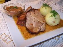 Gemischter Schweinbraten mit Beilage - Rezept - Bild Nr. 2