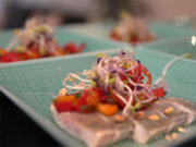 Sashimi vom Steirischen Saibling mit Tomaten-Tartare und Ponzu-Sauce - Rezept - Bild Nr. 2