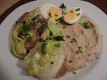 Spitzkohl mit Bohnenpüree und Eiern - Rezept - Bild Nr. 9429