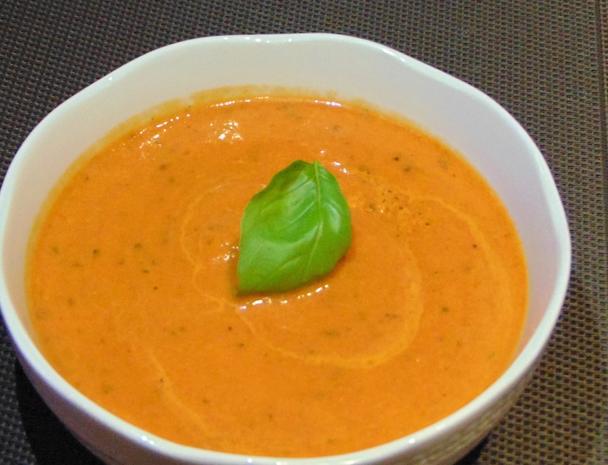 Paprika-Tomaten-Cremesuppe - Rezept - Bild Nr. 3