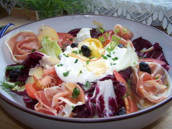 Radicchio -Salat mit Burrata , - Rezept - Bild Nr. 9488