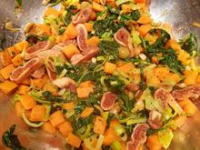 Süßkartoffelpfanne mit Spinat und Feigen - Rezept - Bild Nr. 2