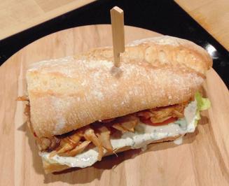 Rezept: Oli`s PULLED CHICKEN SANDWICH
