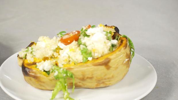 Butternut-Kürbis gefüllt mit Couscous - Rezept - Bild Nr. 2