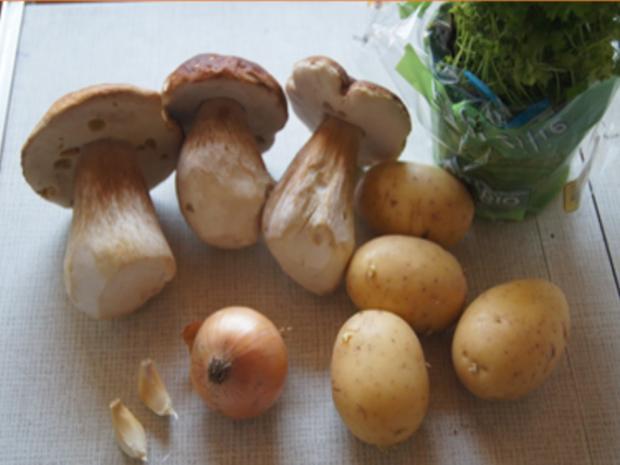 Steinpilzpfanne mit Kartoffelstampf - Rezept - Bild Nr. 5