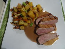 Entenbrust mit Kartoffel-Steckrüben-G'röst'l und Cognacsoße - Rezept - Bild Nr. 2