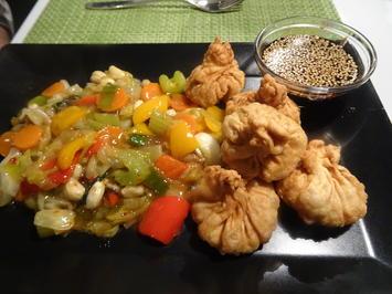 Wan Tan's mit süß-scharfem Wok-Gemüse und Teriyaki-Soße - Rezept - Bild Nr. 2