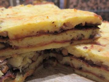 Kartoffeln: Kartoffelbaumkuchen mit Champignonfüllung - Rezept - Bild Nr. 2