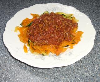 Gemüsenudeln mit Bolognesesoße - Rezept - Bild Nr. 2