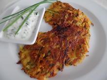 Gemüserösti mit Schnittlauchjoghurt - Rezept - Bild Nr. 9532
