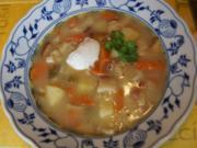 Kartoffel-Gemüse-Suppe mit Steinpilzeinlage - Rezept - Bild Nr. 2