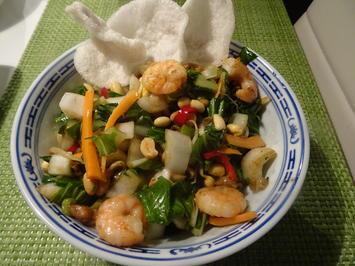 Pak Choi-Salat mit Shrimps - Rezept - Bild Nr. 9532