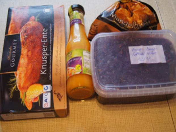 Knusper-Ente mit Mandelbällchen und Ananas-Mango-Rotkohl - Rezept - Bild Nr. 3
