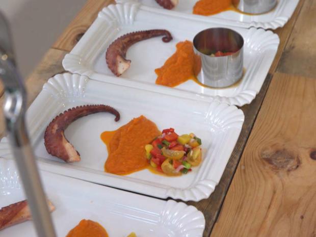 Pulpo mit Chakalaka-Püree und Ceviche - Rezept - Bild Nr. 2