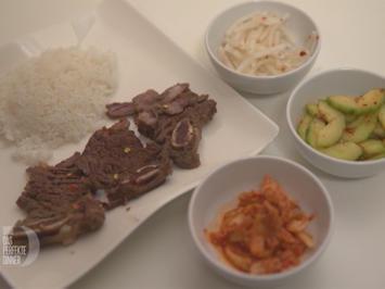 Koreanische Querrippe mit dreierlei Beilagen - Rezept - Bild Nr. 2