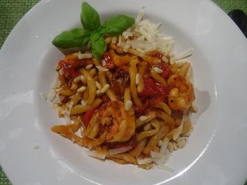 Pici ai pomodori confit con Gamberi - Rezept - Bild Nr. 2