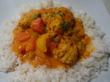 Paprika-Rahm-Gemüse mit Fisch-Klößchen - Rezept - Bild Nr. 2