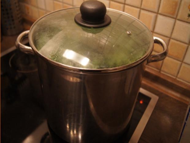 Grünkohl pikant gewürzt mit Brägenwurst, Schweine-braten Prager Art und Kartoffeln - Rezept - Bild Nr. 9