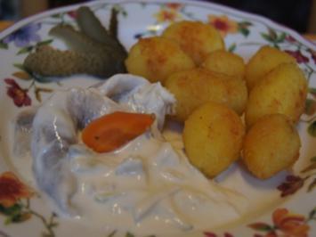 Französche Kartoffeln mit Sahne-Heringsfilets - Rezept - Bild Nr. 2