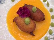Harte Schale, weicher Kern: Matcha, Mango - Rezept - Bild Nr. 2