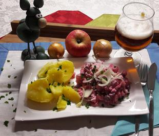 Salat van Maatjeshereng (Matjessalat) - Rezept - Bild Nr. 2