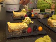 New York Cheesecake mit Avocado-Limetten-Jalapeno-Eis und karamellisiertem Popcorn - Rezept - Bild Nr. 2