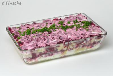 Rezept: Russischer Schichtsalat - abgewandelt