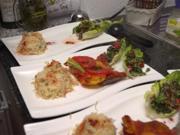 Authentische Kafta Batata mit Reis und Taboule auf Schiffchen - Rezept - Bild Nr. 2