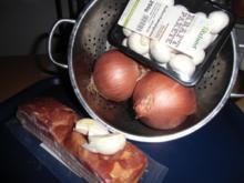 Zwiebelpfanne mit frischen Champignons - Rezept - Bild Nr. 2