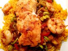 Madras Curry mit Garnelen und Lachs - Rezept - Bild Nr. 2