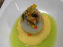 Zwiebel mit Polenta und Parmesan (sous vide gegart) - Rezept - Bild Nr. 9626