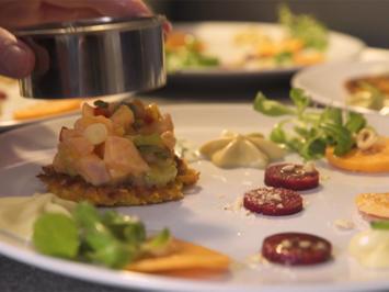 Besoffener Lachs mit Mango, dreierlei von der Süßkartoffel - Rezept - Bild Nr. 2