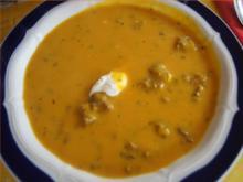 Kürbissuppe mit pikanter Rinderhackeinlage - Rezept - Bild Nr. 2
