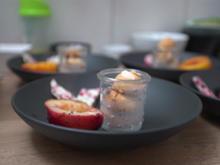 Beereneis, gegrillter Pfirsich, weiße Schokolade und Zabaione - Rezept - Bild Nr. 2
