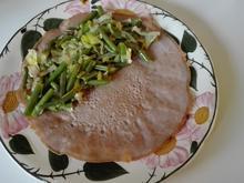 Buchweizen - Pfannkuchen mit Zwiebelbohnen - Rezept - Bild Nr. 2